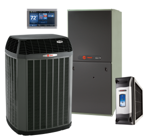 Trane HVAC exterior unit and Interior Unit